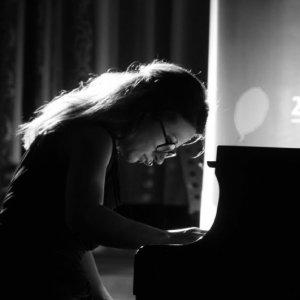 Yllka Istrefi performing at the Remusica Festival in Swiss Diamond Hotel Prishtina